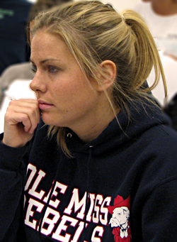 A student listening in class
