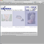 Screenshot from a Hurricane Katrina help website