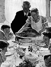 Norman Rockwell thanksgiving poster