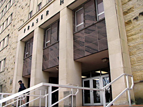 front of fraser hall