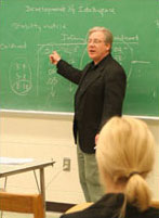 a professor lecturing