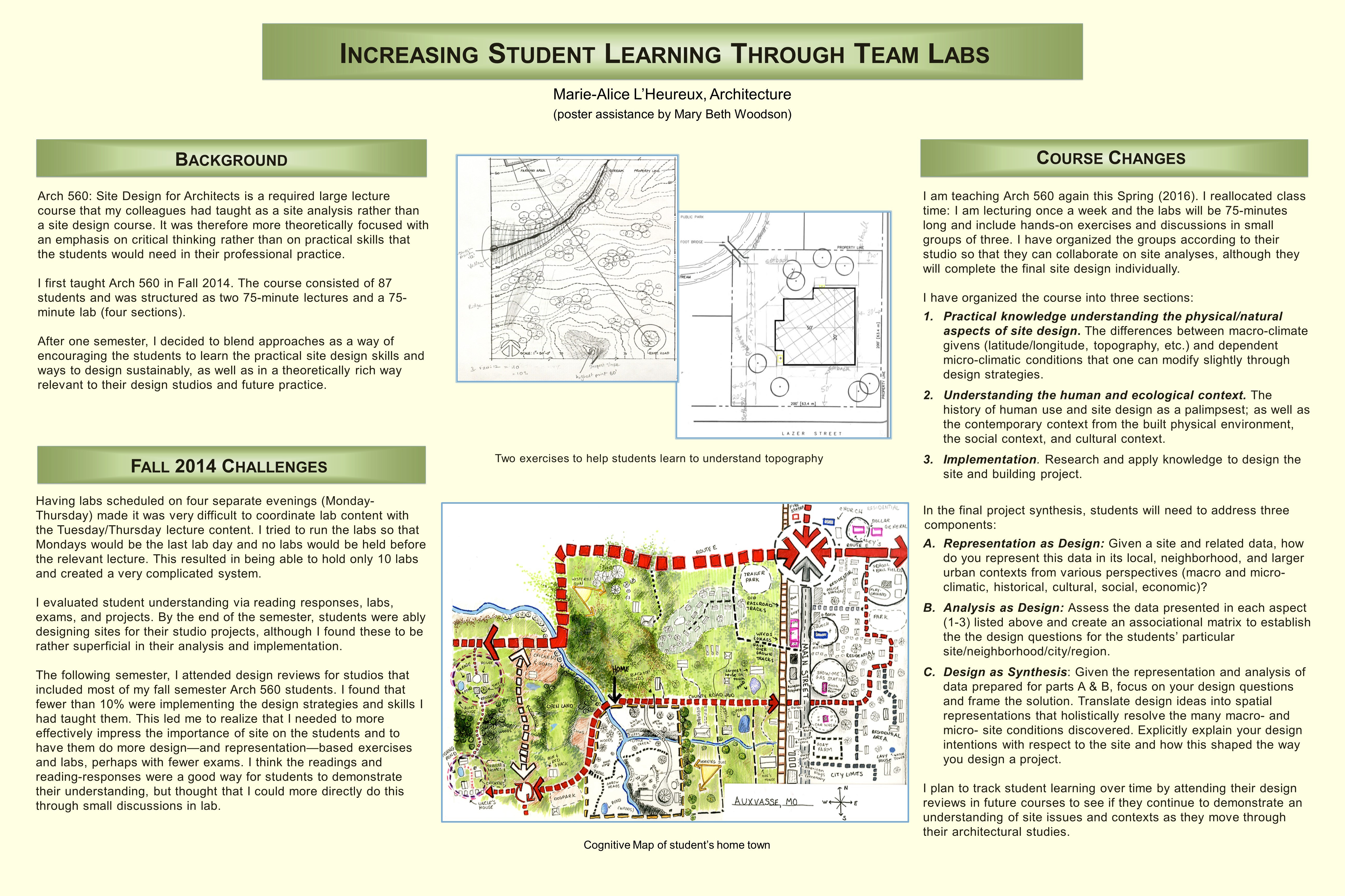 Poster design questions - Increasing Student Learning Through Team Labs Marie Alice L Heureux